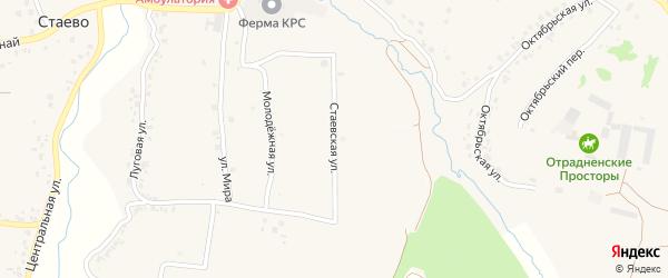 Стаевская улица на карте деревни Стаево с номерами домов