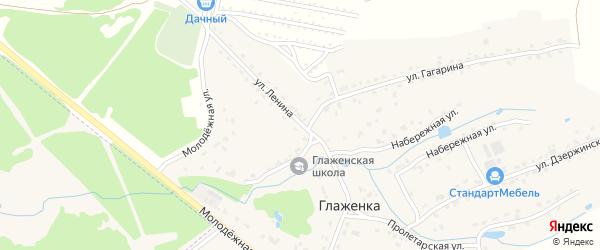 Улица Ленина на карте деревни Глаженки с номерами домов