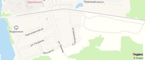 Станционная улица на карте поселка Стари с номерами домов