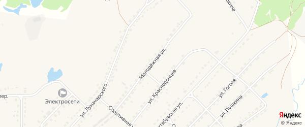 Молодежная улица на карте поселка Стари с номерами домов