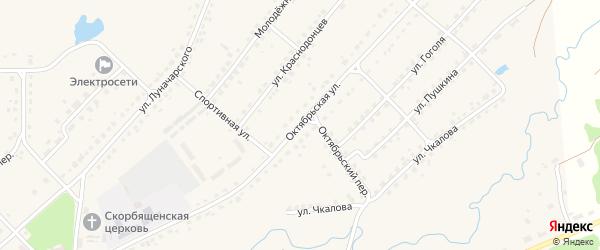 Октябрьская улица на карте поселка Стари с номерами домов