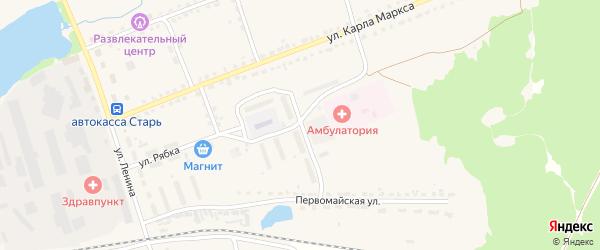 Улица Комарова на карте поселка Стари с номерами домов