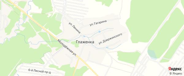Карта деревни Глаженки в Брянской области с улицами и номерами домов