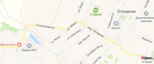 Улица Камозина на карте Отрадного села с номерами домов