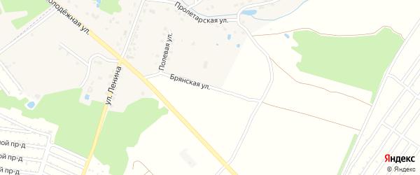 Брянская улица на карте деревни Глаженки с номерами домов