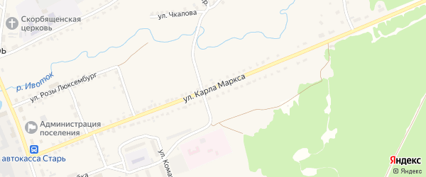 Улица Карла Маркса на карте поселка Стари с номерами домов