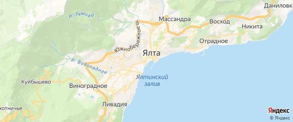 Карта Ялты с районами, улицами и номерами домов