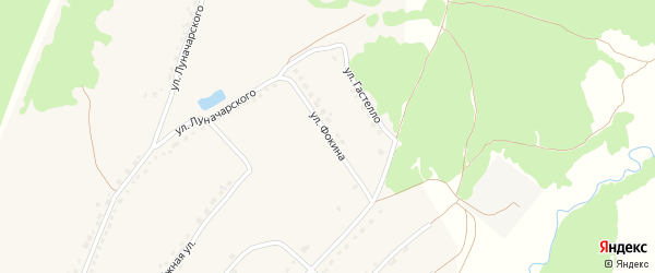 Улица Фокина на карте поселка Стари с номерами домов