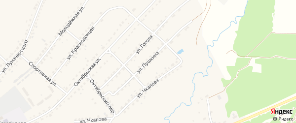 Улица Пушкина на карте поселка Стари с номерами домов