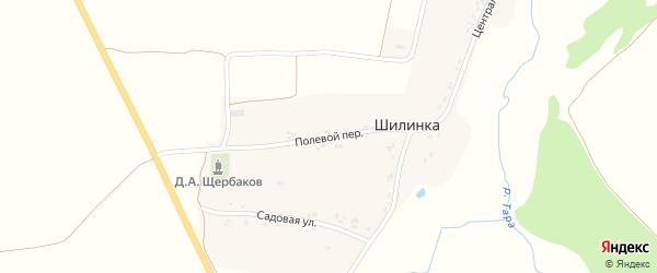 Полевой переулок на карте деревни Шилинки с номерами домов