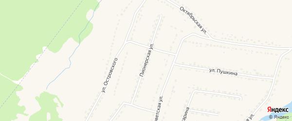 Пионерская улица на карте поселка Ивота с номерами домов