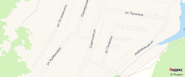 Советская улица на карте поселка Ивота с номерами домов