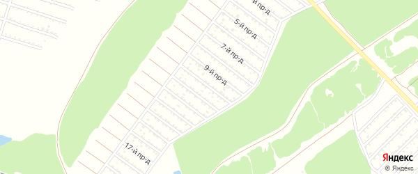 Территория сдт Чистая поляна на карте деревни Толвинки с номерами домов