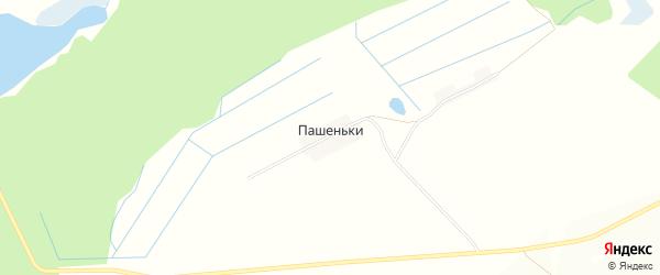 Карта поселка Пашеньки в Брянской области с улицами и номерами домов