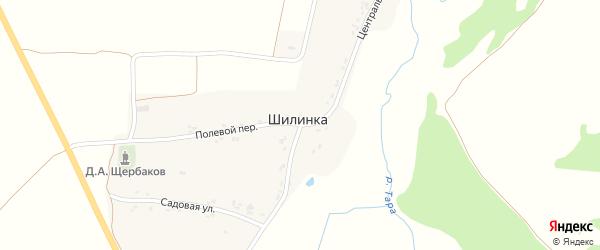 Центральная улица на карте деревни Шилинки с номерами домов