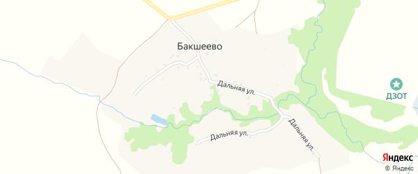Дальняя улица на карте села Бакшеево с номерами домов