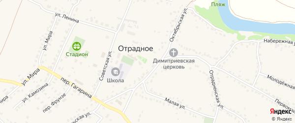 Солнечный микрорайон на карте Отрадного села с номерами домов