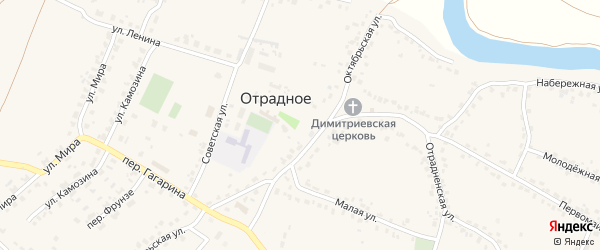 Квартал Корнище на карте Отрадного села с номерами домов