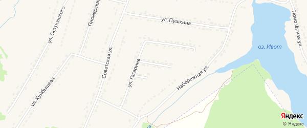 Переулок Гагарина на карте поселка Ивота с номерами домов