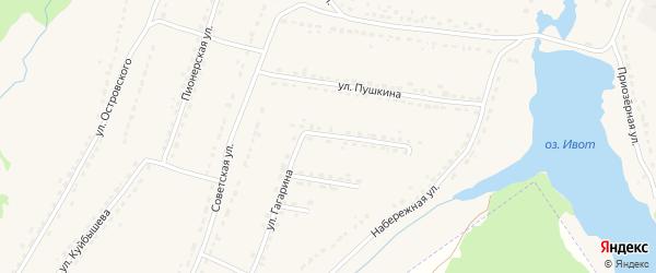 Улица Гагарина на карте поселка Ивота с номерами домов
