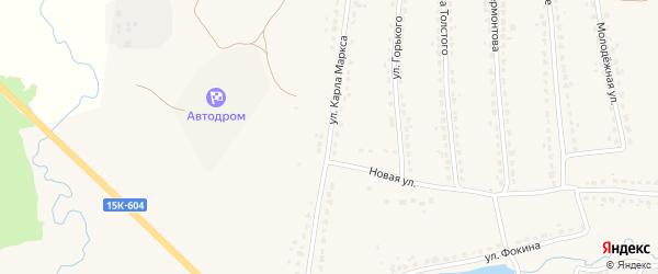 Улица Карла Маркса на карте поселка Ивота с номерами домов