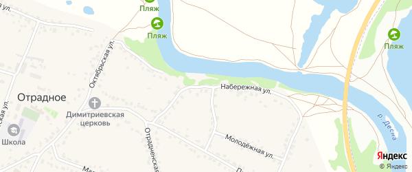 Набережная улица на карте Отрадного села с номерами домов