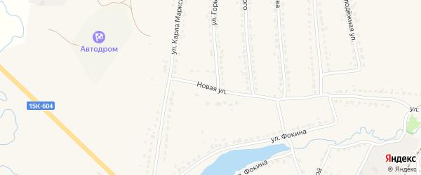 Новая улица на карте поселка Ивота с номерами домов