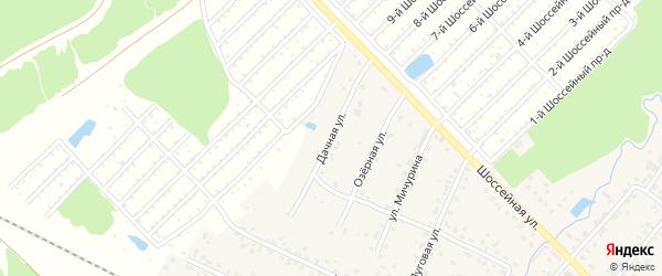 Дачная улица на карте поселка Нетьинки с номерами домов
