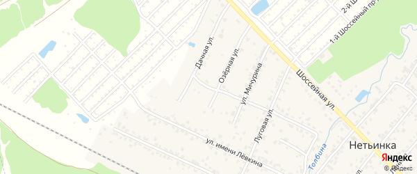 Озерный переулок на карте поселка Нетьинки с номерами домов
