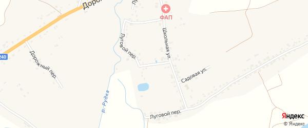 Луговой переулок на карте села Палужьего с номерами домов