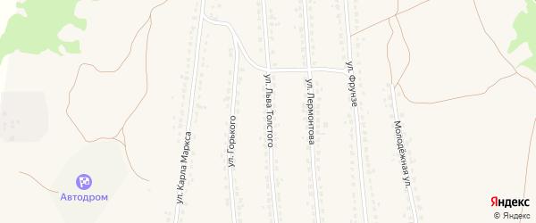 Улица Льва Толстого на карте поселка Ивота с номерами домов