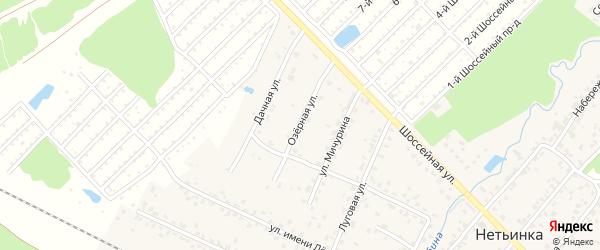 Озерная улица на карте поселка Нетьинки с номерами домов