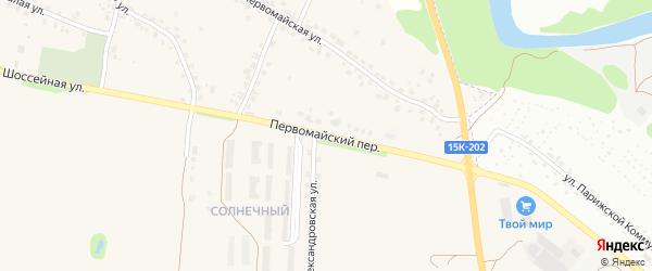 Первомайский переулок на карте Отрадного села с номерами домов