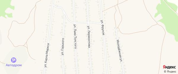 Улица Лермонтова на карте поселка Ивота с номерами домов