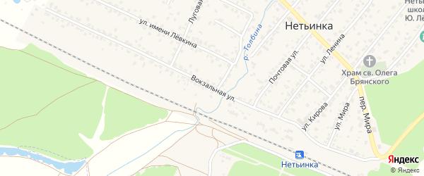 Вокзальная улица на карте поселка Нетьинки с номерами домов