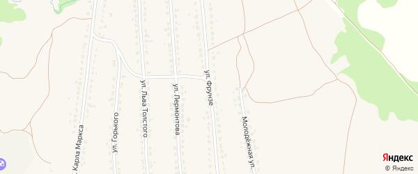 Улица Фрунзе на карте поселка Ивота с номерами домов