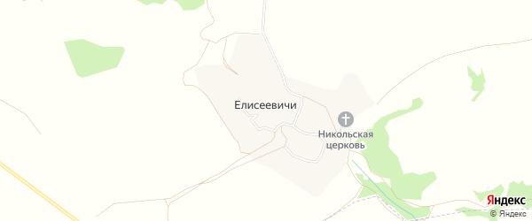 Карта села Елисеевичи в Брянской области с улицами и номерами домов