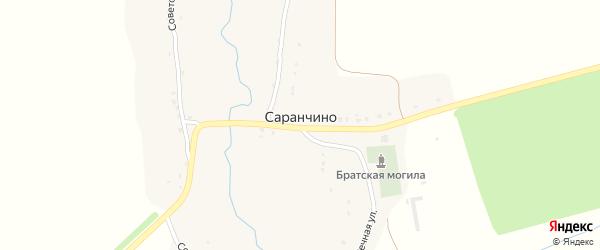 Центральная улица на карте села Саранчино с номерами домов