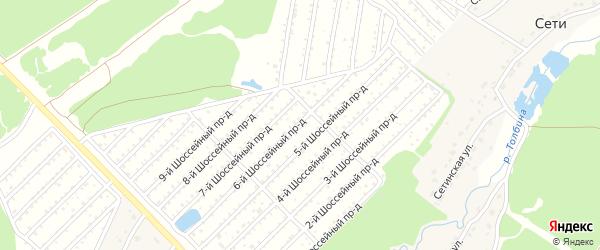 Территория сдт Березовая роща на карте поселка Нетьинки с номерами домов