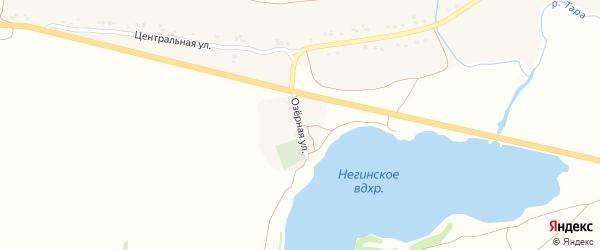 Озерная улица на карте села Негино с номерами домов