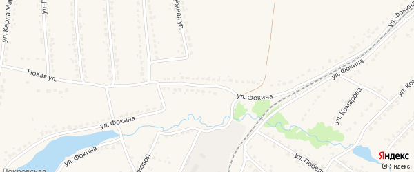 Улица Фокина на карте поселка Ивота с номерами домов