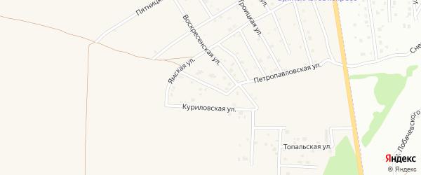 Улица Воздвиженка на карте Отрадного села с номерами домов