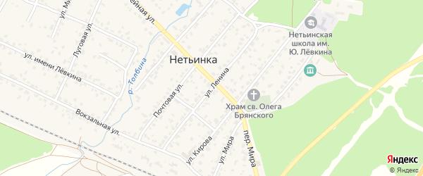 Улица Ленина на карте поселка Нетьинки с номерами домов