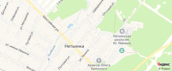 Почтовая улица на карте поселка Нетьинки с номерами домов