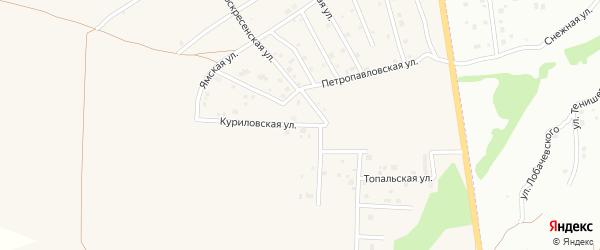 Куриловская улица на карте Отрадного села с номерами домов