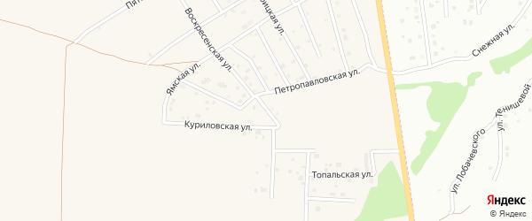 Воскресенская улица на карте Отрадного села с номерами домов