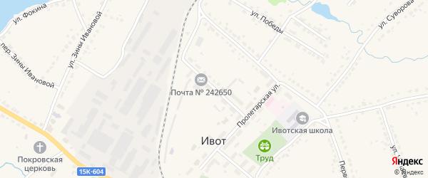 Улица Дзержинского на карте поселка Ивота с номерами домов