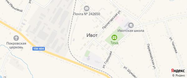Территория сдт Заря-2 на карте поселка Ивота с номерами домов