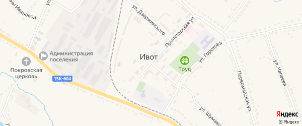 Лесная улица на карте поселка Ивота с номерами домов