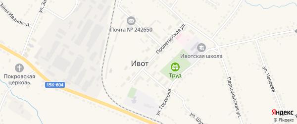 Пролетарская улица на карте поселка Ивота с номерами домов